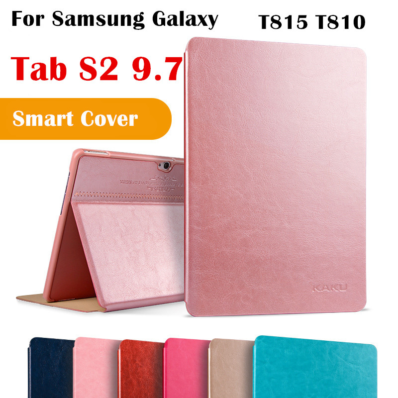 KAKU Tab S2 9.7  Magent Flip Cover For Samsung Galaxy Tab S2 9.7 T810 SM-T815 T815 Tablet Case Smart Cover Protective shell for samsung galaxy tab s2 9 7inch sm t810 t815 flip pu leather cases cover for samsung tab s2 9 7 case t810 tablet s4d33d