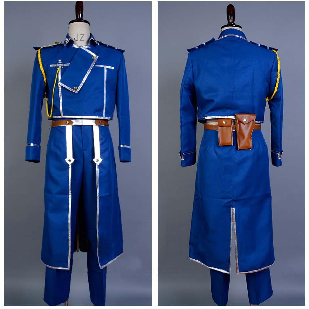 Hot Anime Fullmetal Alchemist Roy Mustang Army Uniform Full Set Cosplay Costume