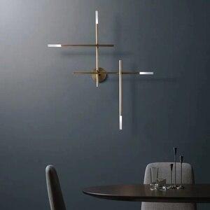 Image 2 - Postmodern LED living room Wall lights Nordic luxury copper lighting fixtures bedroom sconces home deco Corridor aisle wall lamp