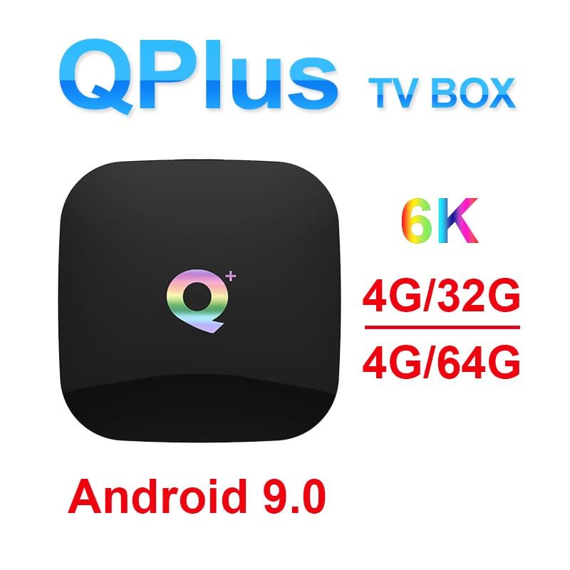 New Q plus Android smart 8 1 9 0 TV box H6 Quadcore cortex A53 Mali