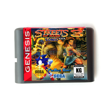 분노의 거리 3 소닉 버전 16 비트 메모리 카드 메가 2 SEGA Genesis Megadrive