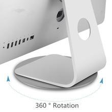 360 Вращение компьютера монитор Базовый диск нескользящий ноутбук подставка из алюминиевого сплава док-станция для Apple iMac телевизионный проектор