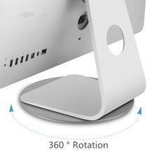 360 Rotatie Computer Monitor Base Disc antislip Laptop Notebook Aluminium Stand Dock voor Apple iMac Televisie Projector(China)