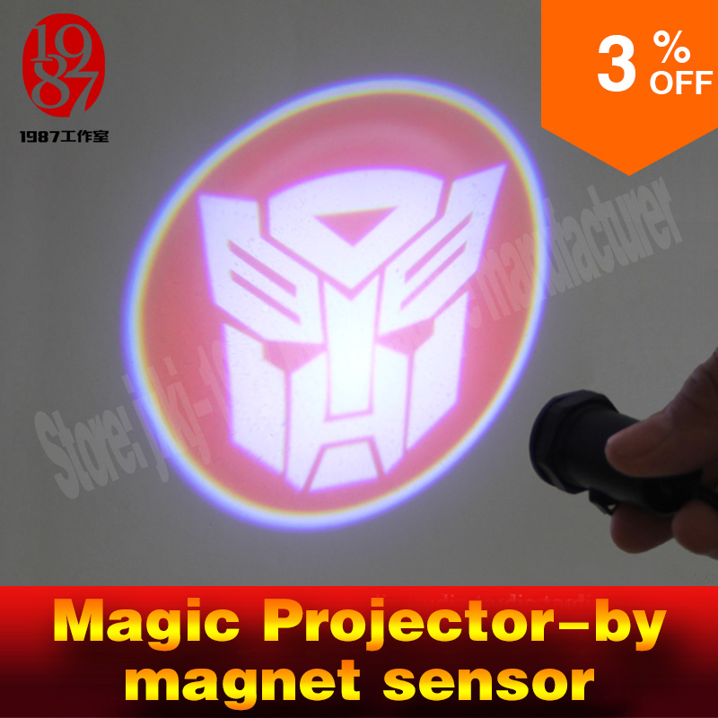 Room escape prop password props touch magnet sensor to light up projector and find password hidden clues puzzles in projector