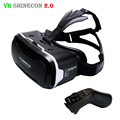 Shinecon 2.0 VR Headset 3D Virtual Reality Helmet Smartphone Cardboard vrbox Video for4.7-6' Phone + Original vr Controller