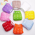 Washable Baby Cloth Diaper Cover One Size Adjustable Summer Solid Color Waterproof Baby Nappy Cotton Reusable Diaper Inserts