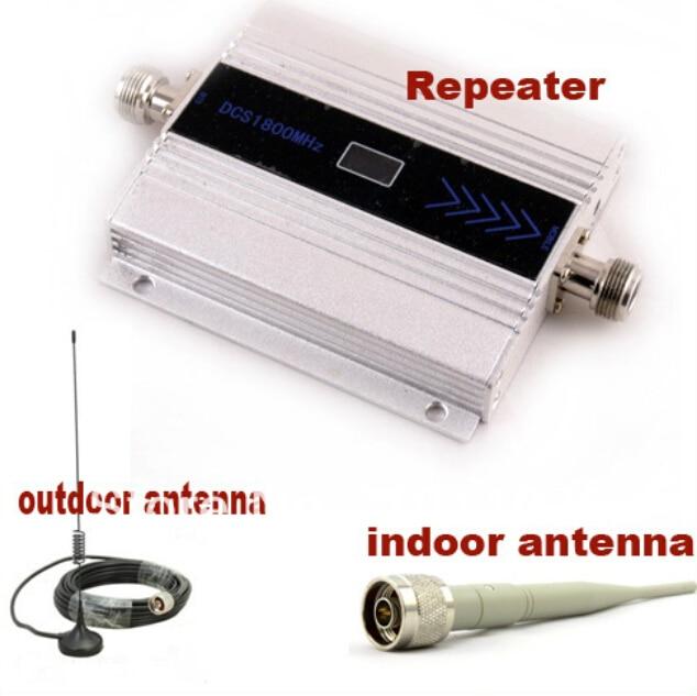 MINI DCS GSM Booster 1800 MHz DCS Signal Booster Amplificateur Répéteur Omni Direction Amplificateur de Téléphone portable avec 10 M Câble + antenne