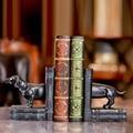 European pet dog bookstand furnishings at home living room decoration creative retro book stand handicraft