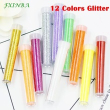 FXINBA 12 Colors Glitter For Slime Supplies/Nails Art Tips Sequin Clay Sprinkles Fluffy Clear Slimes Supplies Toys Lizun DIY Box