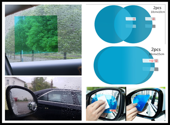 Car flooding reversing mirror full screen nano waterproof film for BMW E46 E39 E90 E36 E60 E34 E30 F30 F10 X5 E53 image