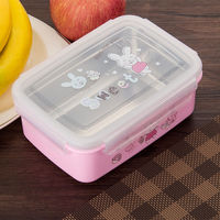 Cute Stainless Steel Lunch Box Portable Bento Box Food Container Food Storage Box For Kids School