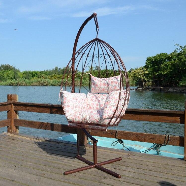 Hierro poco perezoso columpio mecedora reclinable silla - Columpios de exterior ...