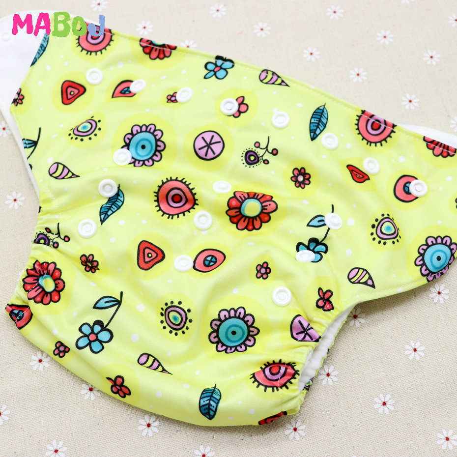 MABOJ Diaper Baby Pocket Diaper Washable Cloth Diapers Reusable Nappies Cover Newborn Waterproof Girl Boy Bebe Nappy Wholesale