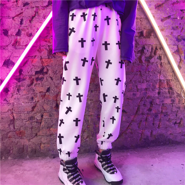 Streetwear Hiphop Harem Graphic Print Elastic Waist Jogger Pant Summer Autumn Homme Tracksuit Korean Trouser Fashion Workout New 2