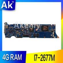 AK UX31E материнская плата для ноутбука ASUS UX31E UX31 Тесты оригинальная плата 4G Оперативная память I7-2677M