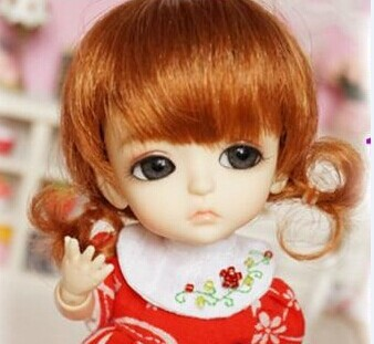 JD199 1/12 Cute tiny BJD doll wigs Size 3-4 inch 4-5inch twin pony wig Synthetic mohair BJD hair fashion doll accessories beautiful doll wig long wavy wigs for dolls accessories fashion synthetic doll hair 1 4 1 6 bjd wig good quality