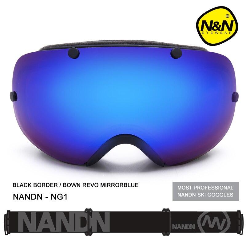 NANDN NG1 Professionnel Ski et Snowboard Sphérique Double Lentille Lunettes Anti Brouillard Grand Alpinisme Lunettes Hommes et Femmes