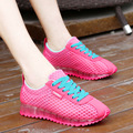 Fashion 2016 Brand Women Casual Shoes Mesh Breathable Women Trainers Shoes Casual Comfort Ladies Flats Shoes