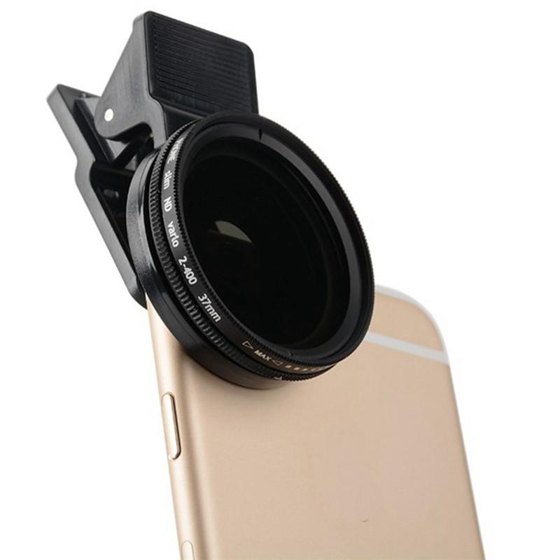 Portable Adjustable 37mm Neutral Density Clip-on ND 2-400 Phone Camera Filter Lens Universal for iPhone Android Camera ModulePortable Adjustable 37mm Neutral Density Clip-on ND 2-400 Phone Camera Filter Lens Universal for iPhone Android Camera Module