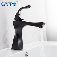 GAPPO Basin Faucets black bathroom faucet water taps deck mounted basin sink faucet taps mixers armatur waterfall faucet