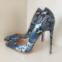 Ladies High Heel Blue Banquet Tip Pumps Pumps 12cm10cm8cm High Heels