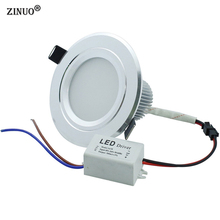 5pcs/lot Recessed LED Downlight 3W 5W 7W 9W 12W AC85-265V Round Kitchen Panel Ceiling Spot Lights Warm White/Cool White недорого
