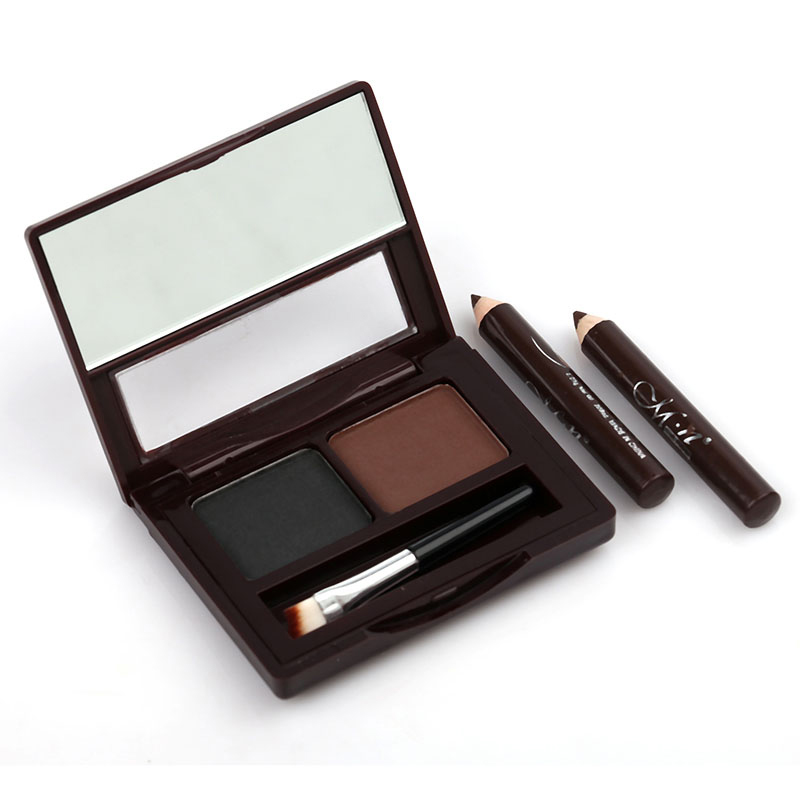 2018 MENOW 2-color Eyebrow Powder with Eyebrow Brush + 2-color Waterproof Eyeliner HB88