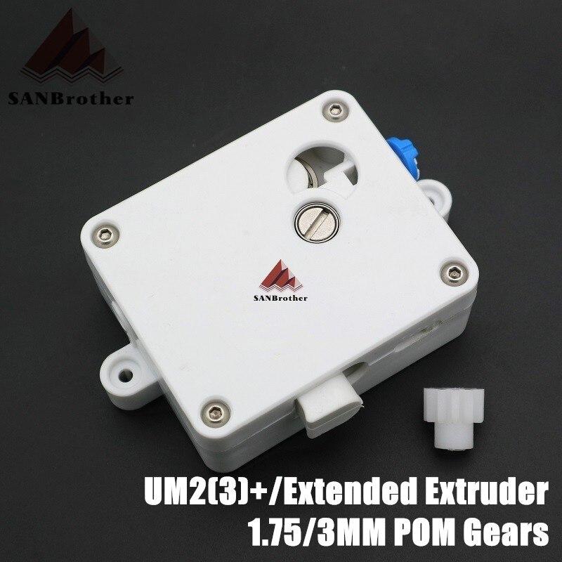 Hot! UM2 + Alimentador Ultimaker 2 + Estendida Extrusora Suíte UM2 Estendida Alimentador Da Extrusora Set Fit Para 1.75/3mm Sistema de filamento.