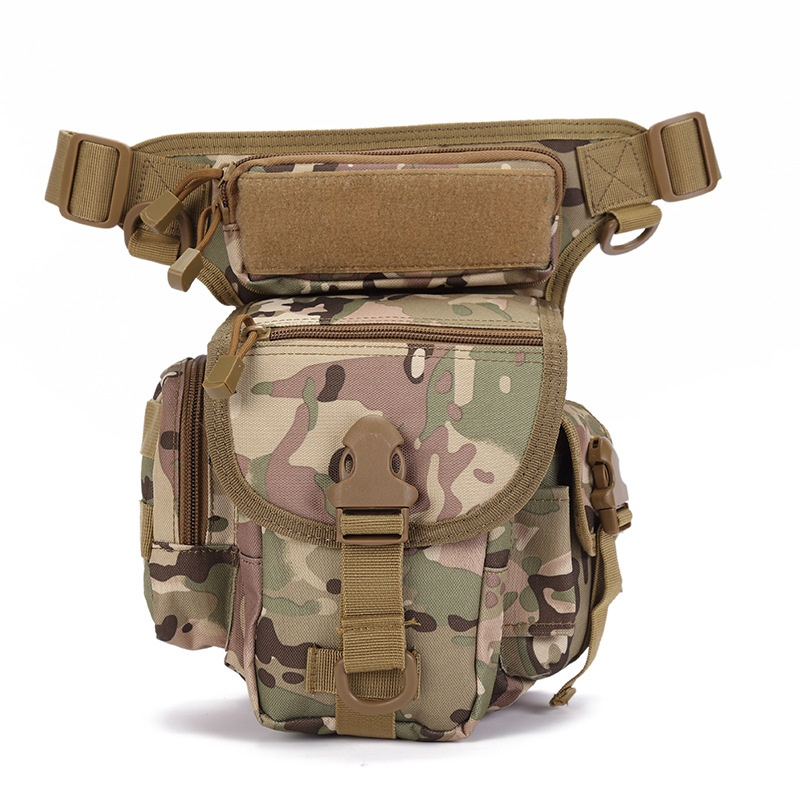 CQC Outdoor Sports Military Tactical Drop Leg Bag Utility Molle Belt Thigh Pouch SWAT Camping Climbing Hunting Tool Waist Pack image