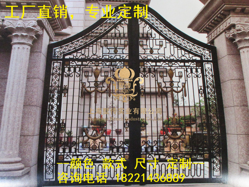 Custom Made Wrought Iron Gates Designs Whole Sale Wrought Iron Gates Metal Gates Steel Gates Hc-g19