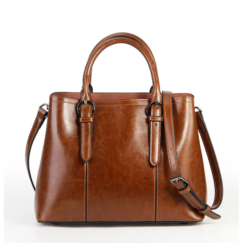 2018 Genuine Leather Handbags For Women Luxury Female Crossbody Bags Designer High Quality Oil Wax Leather Ladies shoulder Bags chispaulo brand designer female handbags high quality oil wax cowhide lady real genuine leather bags for women s shoulder bags