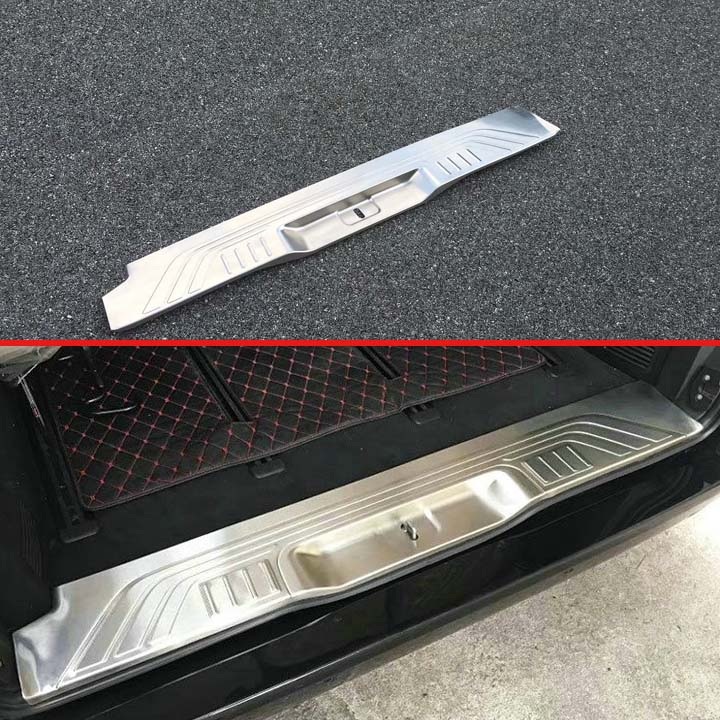 For Mercedes-Benz Vito (W447) 2017 2018 Car Accessories Stainless Steel Rear Trunk Scuff Plate Door Sill Cover Molding Garnish image