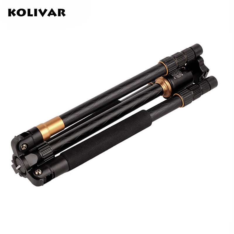 KOLIVAR QZSD Hot Q999 Professional Portable Tripod To Monopod+Ball Head For Digital SLR DSLR Camera Fold 43cm Max Loading 15Kg zomei z888 5 color professional portable traveling tripod monopod ball head for digital slr dslr camera 15kg maximum loading