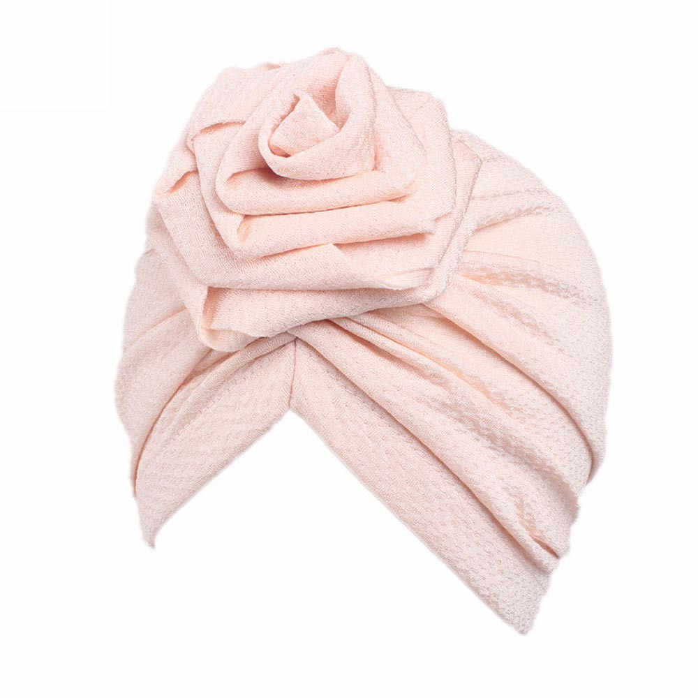 Children Baby Girls Boho Hat Beanie Scarf Turban 2019 New Spring Head Wrap Cap Candy Color Lovely Baby Beanies Accessories