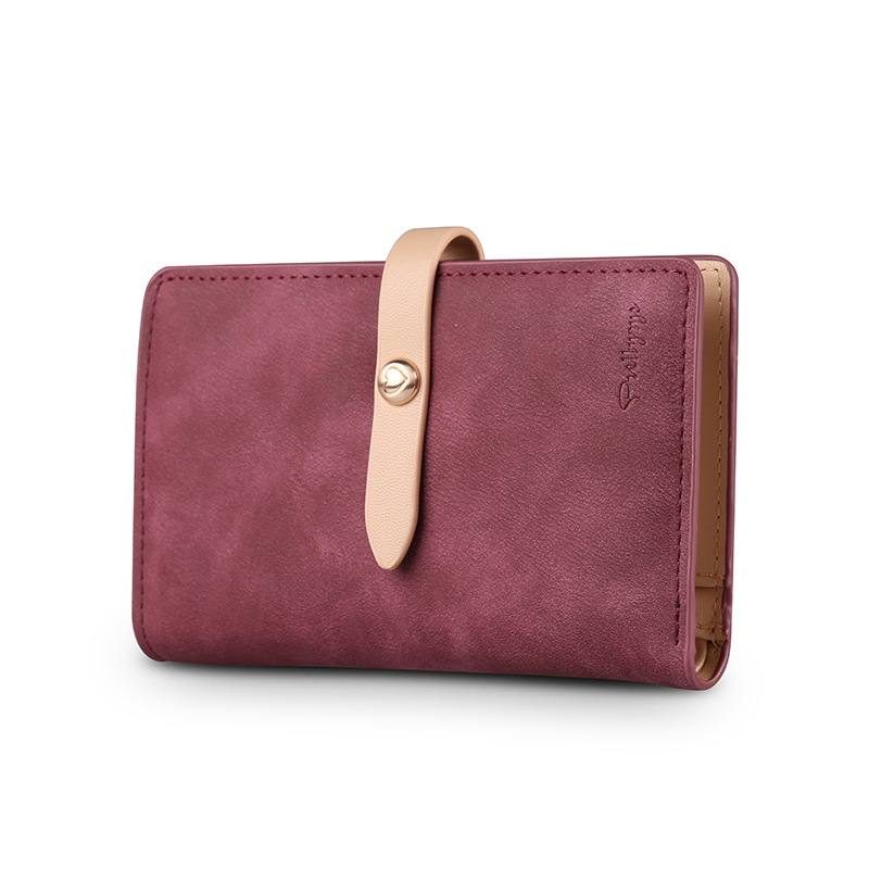 Fashion Cute Women Wallets Matte Leather Wallet Female Luxury Brand Coin Purse Wallet Women Card Holder Wristlet Money Bag Small dollar price women cute cat small wallet zipper wallet brand designed pu leather women coin purse female wallet card holder