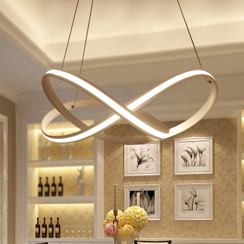 Современные светодиодный гостиная приостановлено лампы творческий спальня светильники Nordic столовая подвесные светильники Ресторан подве...