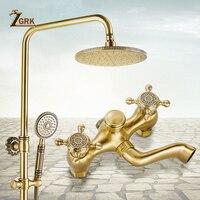ZGRK смесители для душа Ванная комната смесители топ спрей дождь Насадки для душа стиральная кран Античная душ Системы Водостоки кран HS970