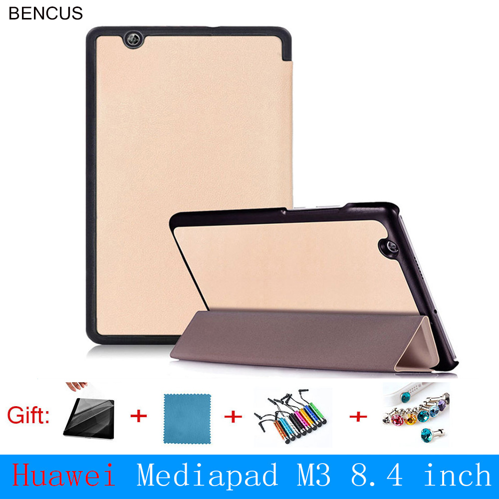 BENCUS Fashion Real Fashion Waterproof Ultra Thin Pu Cover for Huawei Mediapad M3 Case 8.4 Inch Magnetic for Btv-w09 Btv-dl09