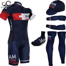 2015 Dark Blue cycling jersey quick dry polyester cycling shirts bike shorts set gel pad cycle