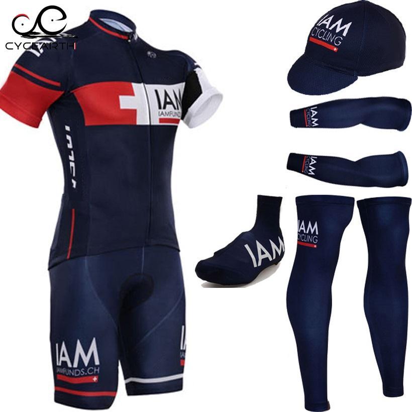 Prix pour 2015 Foncé Bleu vélo maillot rapide polyester sec vélo chemises vélo shorts set gel pad cycle Maillot Culotte ensemble complet