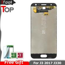 Super AMOLED LCDS For Samsung Galaxy J3 2017 J330 J330F SM-J330 LCDs Display Touch Digitizer Screen(China)