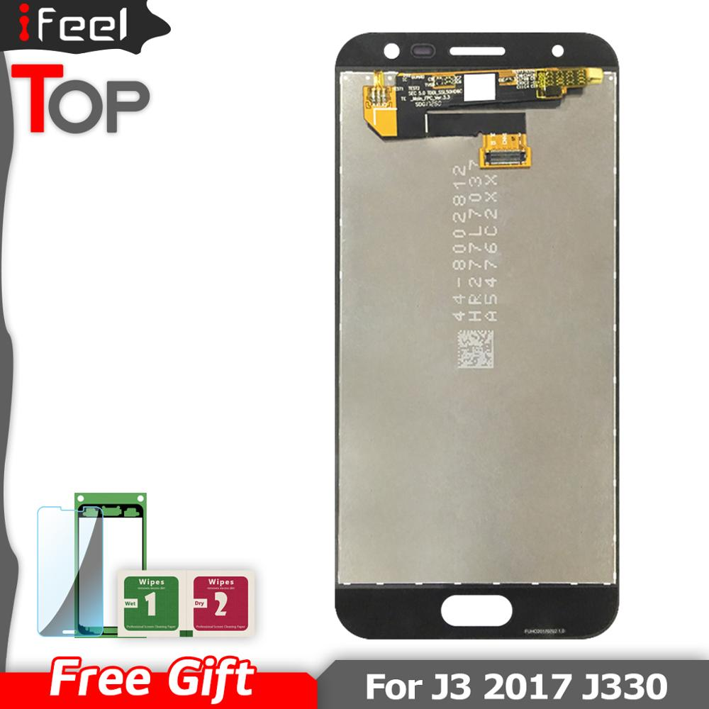 Super AMOLED LCDS For <font><b>Samsung</b></font> Galaxy J3 <font><b>2017</b></font> J330 <font><b>J330F</b></font> SM-J330 LCDs Display Touch Digitizer Screen image