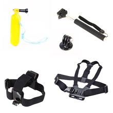 ZJM Equipment for Gopro Monopod Tripod & Float Bobber & Chest Belt Strap Go well with for GoPro Hero three+/three/2/1 SJ4000 Xiaomi Yi Digital camera
