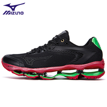 Купить с кэшбэком MIZUNO WAVE Prophecy 1 professional Men Shoes Cheap sneakers Breathable Mesh Weightlifting Shoes 6 Color 40-45