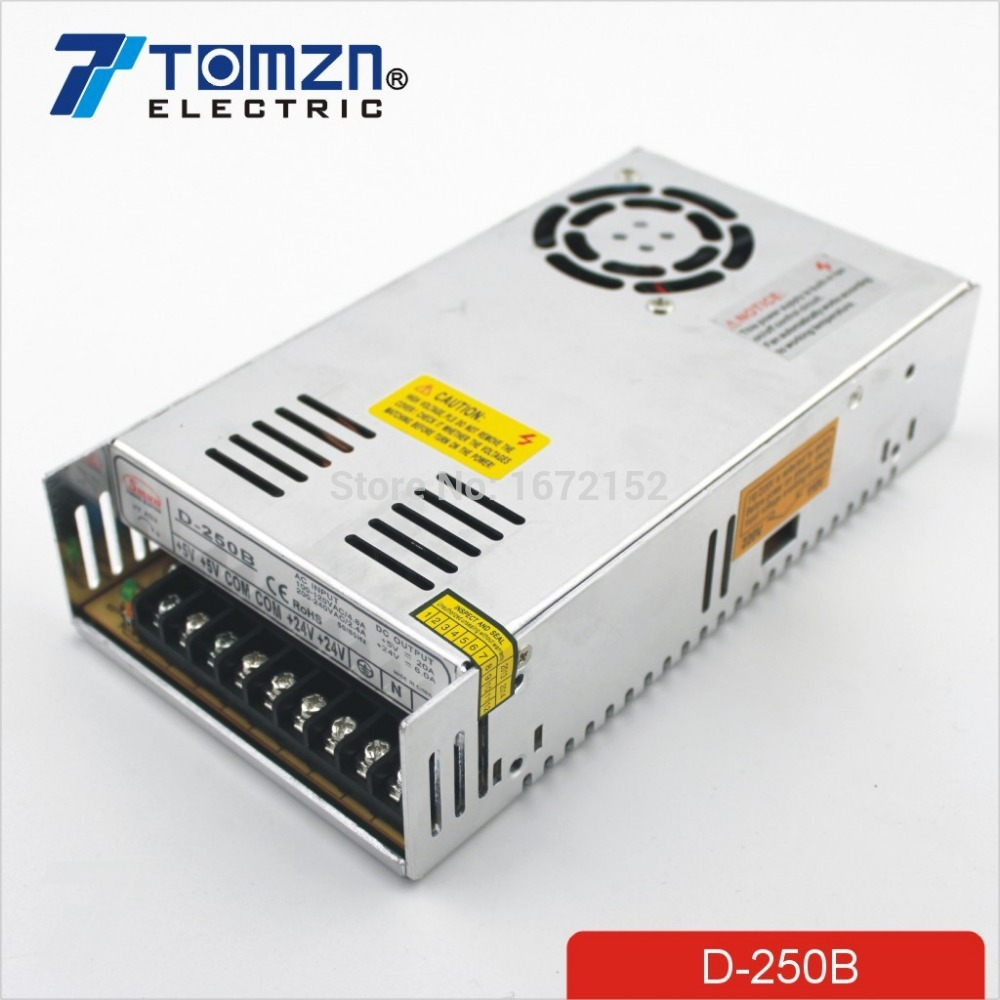 250W B Dual output 5V 24V Switching power supply AC to DC DC 20A DC 6A free shipping120w mini dual output switching power supply output voltage 5v 24v ac dc d 120b
