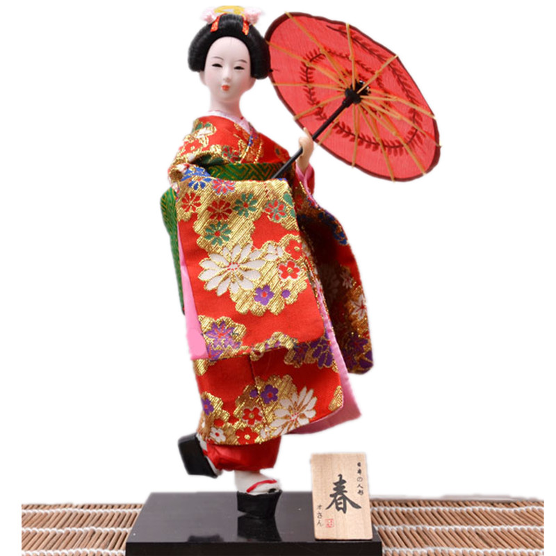 2016 belle 30 cm d coration figurines artisanat japonais geisha miniatures avec parapluie. Black Bedroom Furniture Sets. Home Design Ideas