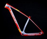 THRUST T1000 Pink Carbon Frame 29er 27er Mountain Bike Frame Carbon Fiber Chinese Bicycle Frame mtb Disc Brake New Design Paint