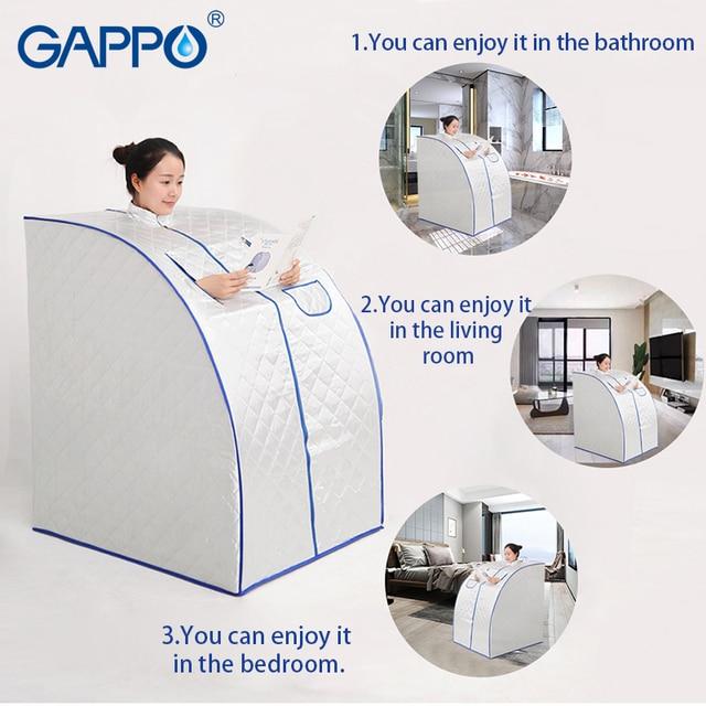 GAPPO Steam Sauna portable sauna room Beneficial skin infrared Weight loss Calories bath SPA with sauna bag 1