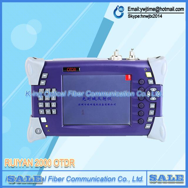DHL FEDEX Envío Libre Digtial Probador RY-OT2000 SM OTDR De Fibra Óptica 1310/1550nm 15/16dB Con 5 mW Localizador Visual de Fallos (VFL)