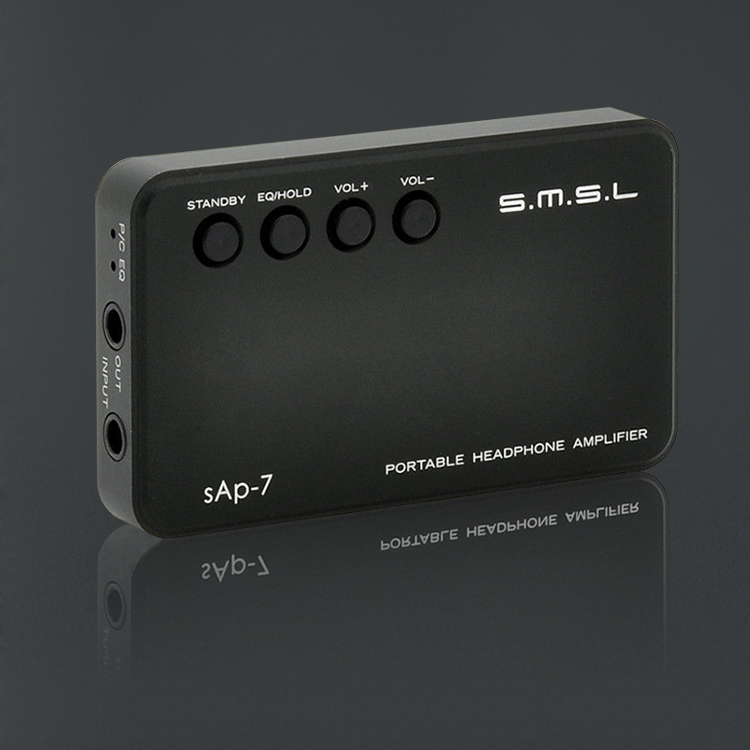 цена на 2016 New Version SMSL SAP-7 Hifi Portable Headphone AMP Aluminum Enclosure Integrated Headset Power Amplifier Amplificador Black